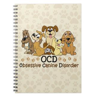 Desorden canino obsesivo de OCD Libreta Espiral