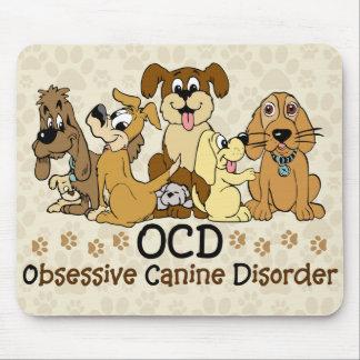Desorden canino obsesivo de OCD Mousepads