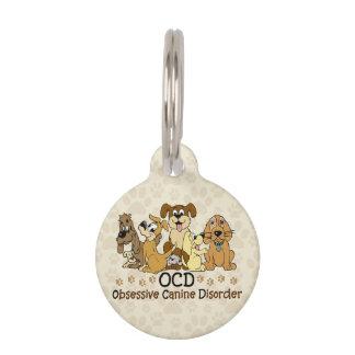 Desorden canino obsesivo de OCD Placas De Mascota