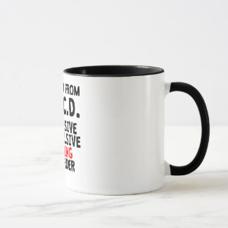 Desorden de ciclo obsesivo taza