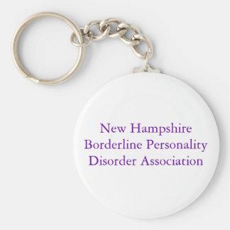 Desorden de personalidad límite de New Hampshire A Llavero Redondo Tipo Pin
