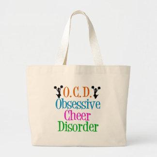 Desorden obsesivo de la alegría bolsa tela grande