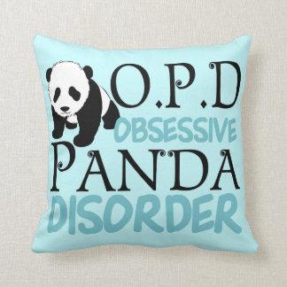 Desorden obsesivo de la panda cojin