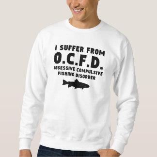 Desorden obsesivo de la pesca pullover sudadera