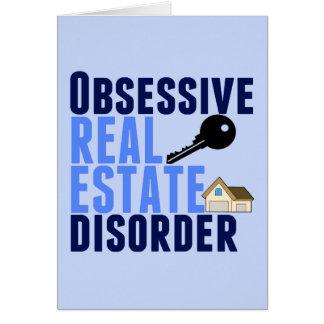 Desorden obsesivo de las propiedades inmobiliarias tarjeta de felicitación