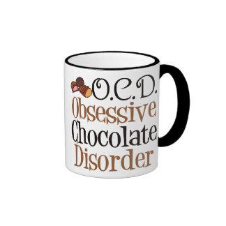 Desorden obsesivo del chocolate taza de dos colores