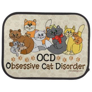 Desorden obsesivo del gato de OCD Alfombrilla De Auto