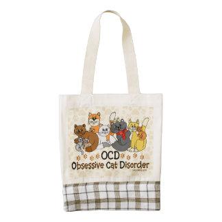 Desorden obsesivo del gato de OCD Bolsa Tote Zazzle HEART