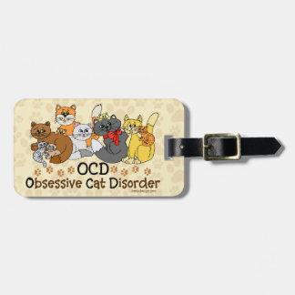 Desorden obsesivo del gato de OCD Etiquetas Para Maletas