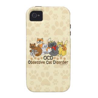 Desorden obsesivo del gato de OCD iPhone 4 Carcasa