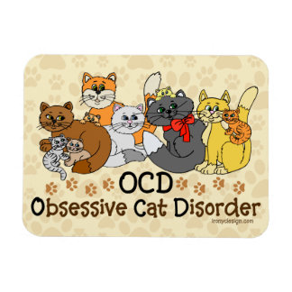 Desorden obsesivo del gato de OCD Imanes