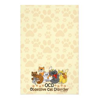 Desorden obsesivo del gato de OCD Papeleria Personalizada
