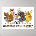 Desorden obsesivo del gato de OCD Póster