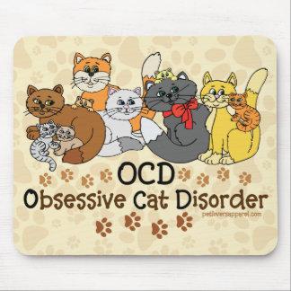 Desorden obsesivo del gato de OCD Alfombrilla De Ratón