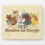 Desorden obsesivo del gato de OCD Tapete De Ratones