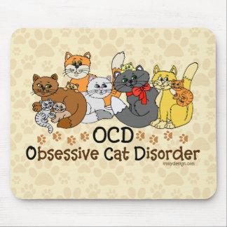 Desorden obsesivo del gato de OCD Tapetes De Raton