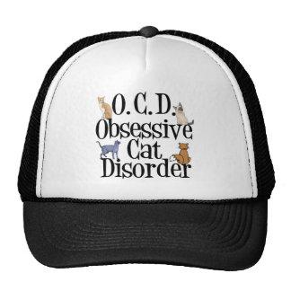 Desorden obsesivo del gato gorro de camionero
