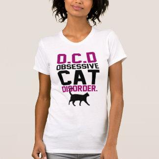 Desorden obsesivo del gato t-shirt