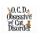 Desorden obsesivo del gato tarjetas postales