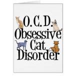 Desorden obsesivo del gato tarjetón
