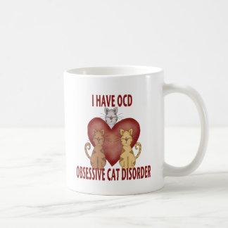 Desorden obsesivo del gato tazas