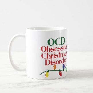 Desorden obsesivo del navidad taza