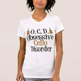 Desorden obsesivo del violoncelo camiseta