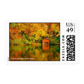 DeSoto State Park Boathouse Postage Stamp