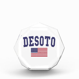 DeSoto US Flag Acrylic Award