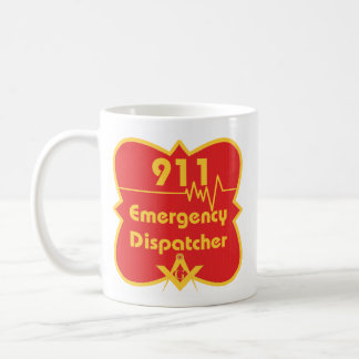 Despachador de 911 albañiles taza básica blanca