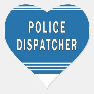 Despachador de la policía pegatina en forma de corazón