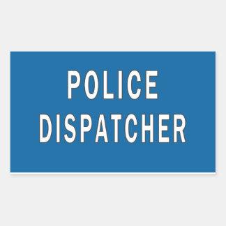 Despachador de la policía pegatina rectangular