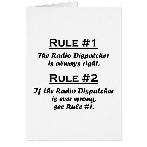 Despachador de radio de la regla tarjeta pequeña