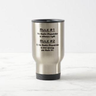 Despachador de radio de la regla tazas de café