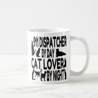 Despachador del amante 911 del gato taza de café
