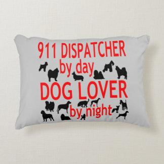 Despachador del amante 911 del perro cojín decorativo