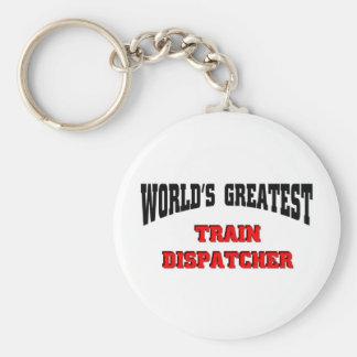 Despachador del tren llavero personalizado