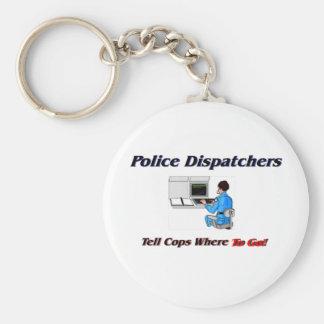Despachadores de la policía llaveros personalizados