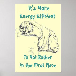 Despair Bear Poster - Energy Efficiency