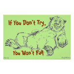 Despair Bear Poster - If You Don't Try