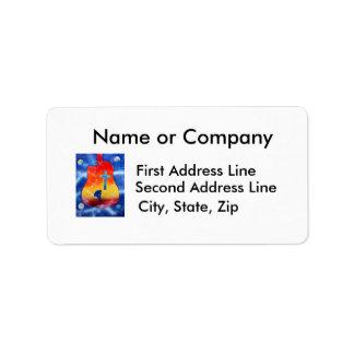 Despair spray paint spraypainting, guitar & cross personalized address label