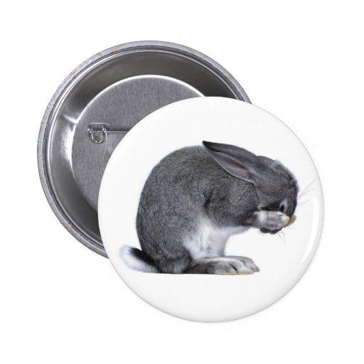 Despairing Rabbit Pinback Buttons