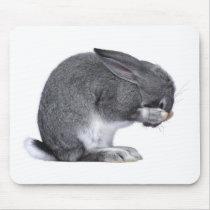 Despairing Rabbit Mouse Pad