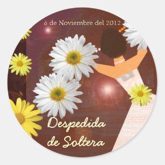 Despedida de Soltera Classic Round Sticker