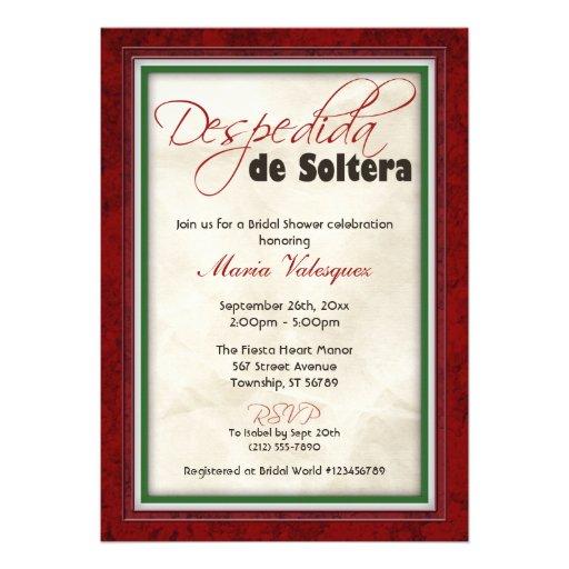 Despedida de Soltera Mexican Theme Bridal Shower Invite from Zazzle ...