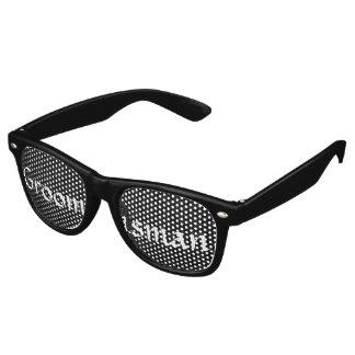 Despedida de soltero blanco y negro de la gafas de sol