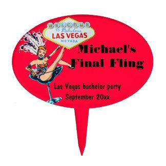 Despedida de soltero de Las Vegas Decoraciones Para Tartas