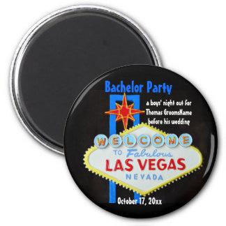 Despedida de soltero de Las Vegas Imán Redondo 5 Cm
