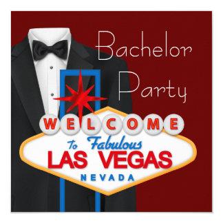 """Despedida de soltero de Las Vegas Invitación 5.25"""" X 5.25"""""""