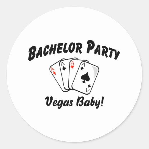 Despedida de soltero de Vegas Pegatinas Redondas